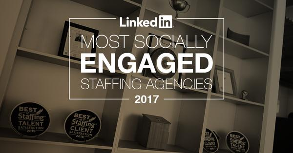 Aquent recognized by LinkedIn as one of the Top 25 Most Socially Engaged Staffing Agencies globally