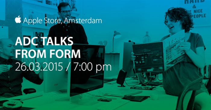 ADC Talks Amsterdam Series - Thursday 26 March 19:00, Apple Store Amsterdam